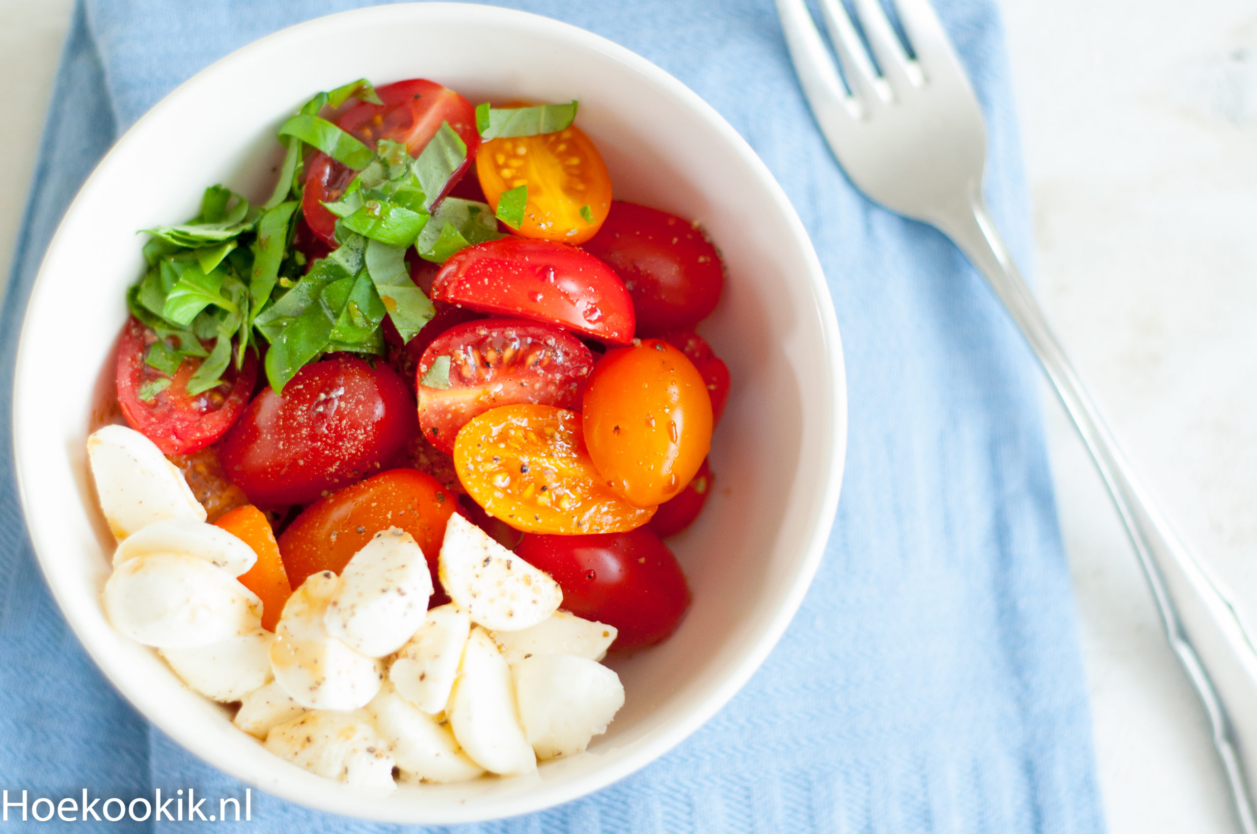 Simpele tomatensalade met mozzarella
