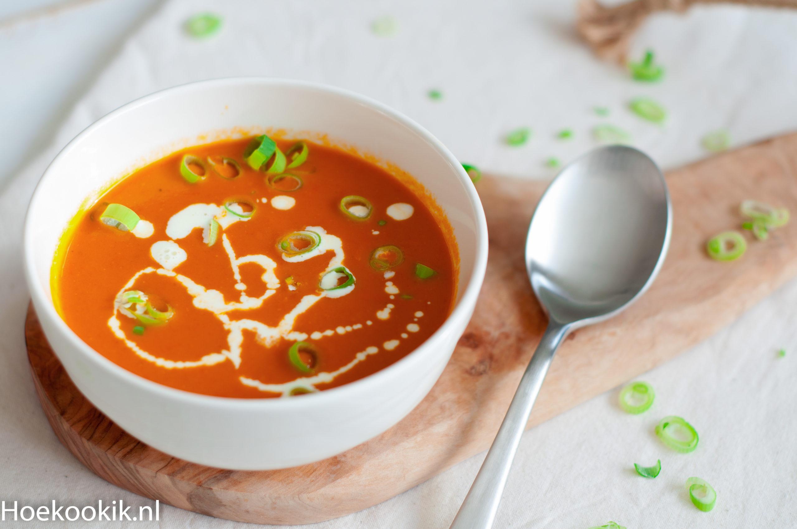 Verse tomatensoep met room